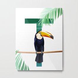 T - Toucan Metal Print