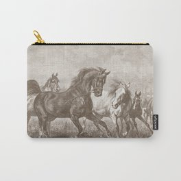 HORSES ON A PASTURE  Carry-All Pouch