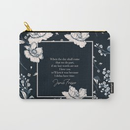 When the day shall come that we do part... Jamie Fraser Carry-All Pouch