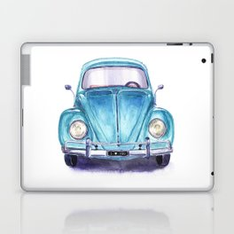 Vintage blue car Laptop & iPad Skin