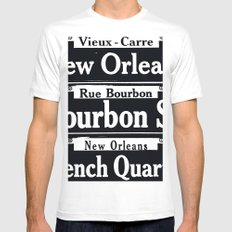 NEW ORLEANS FRENCH QUARTERS White MEDIUM Mens Fitted Tee