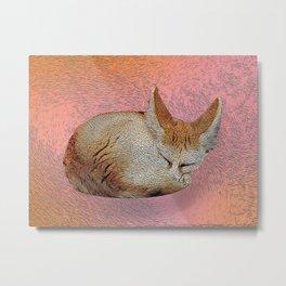 Sleeping fox. Metal Print