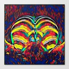 1349s-MAK Abstract Pop Color Erotica Explicit Psychedelic Yoni Buns Canvas Print