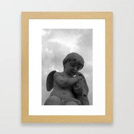 Angel in Contemplation Framed Art Print