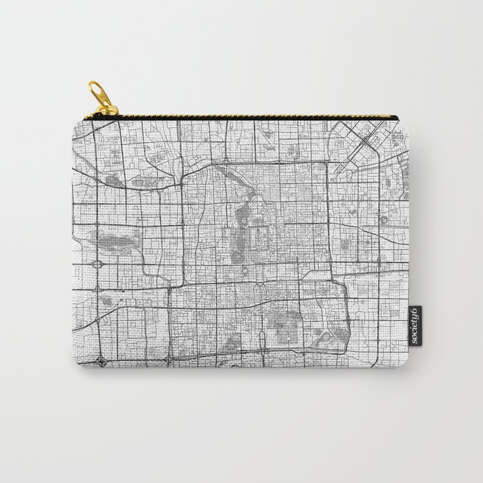 Beijing Map Line Carry-All Pouch