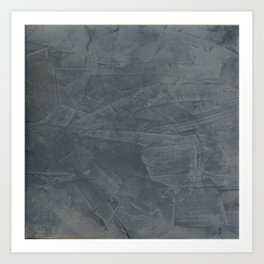 Slate Gray Stucco - Faux Finishes - Rustic Glam - Corbin Henry Venetian Plaster Art Print