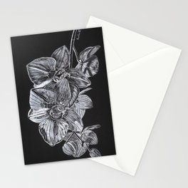 Silver Orchid Stationery Cards