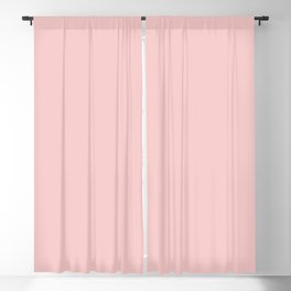 Millennial Pink Solid Matte Blackout Curtain