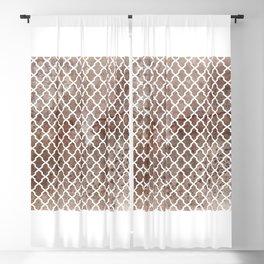 Coffee Trellis Pattern Blackout Curtain