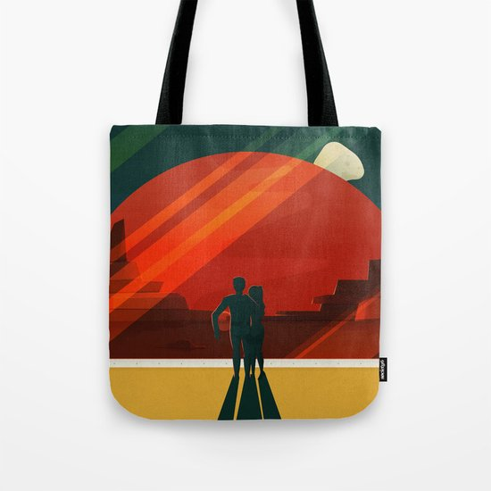 THE MOONS OF MARS - Phobos & Deimos | Space | X | Retro | Vintage | Futurism | Sci-Fi | Two Tote Bag