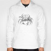 clockwork Hoodies featuring clockwork crab by vasodelirium