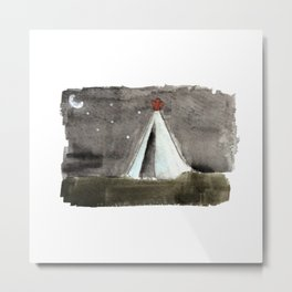 Camping out Metal Print