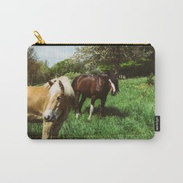 Horses In Spring Pasture Carry-All Pouch