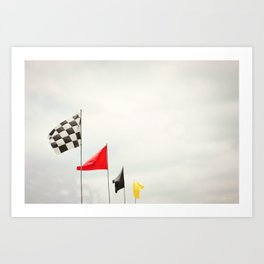 Race Day Checkered Flags Art Print