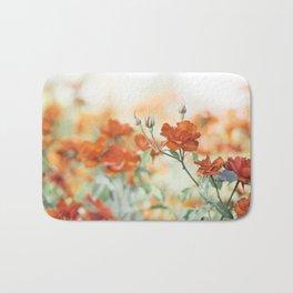 Orange Rose Flower Photography, Red Orange Roses, Burnt Orange Flowers Bath Mat