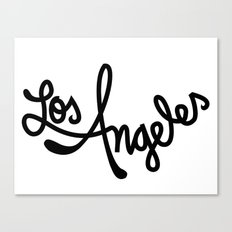 Los Angeles, Hand-Lettered Canvas Print