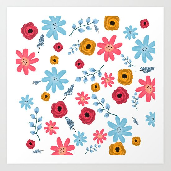 Colors Flowers 3 Art Print