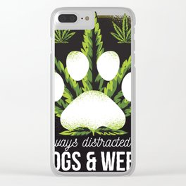 dogs and weed Clear iPhone Case