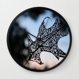sunset be-leaf Wall Clock