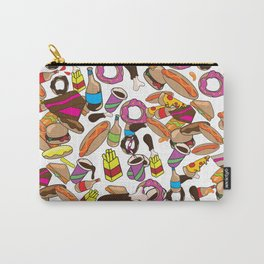 Cartoon Junk food pattern. Carry-All Pouch