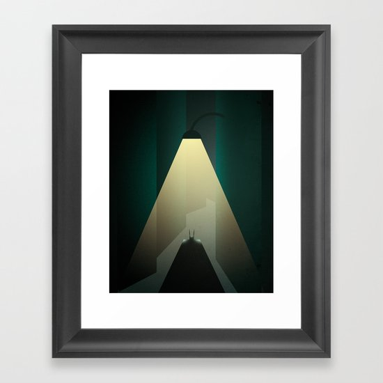 Smooth Heroes - Alone in the dark Framed Art Print