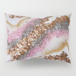 Geode Art Pink Pillow Sham