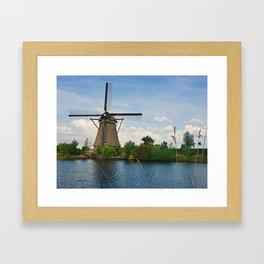 Kinderdijk Overwaard Framed Art Print