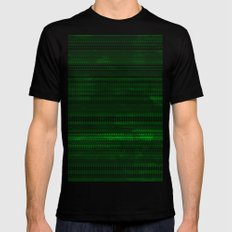 Tribality Green Texture MEDIUM Black Mens Fitted Tee