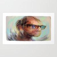 christian schloe Art Prints featuring Christian Gerhartsreiter by robotrake