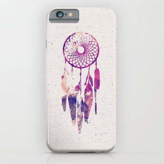 Girly pink purple dream catcher watercolor paint iphone for Road case paint