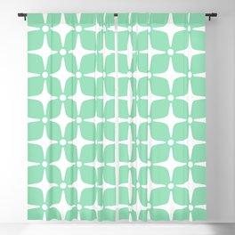 Mid Century Modern Star Pattern Mint Green 2 Blackout Curtain