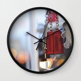 British phone booth keychain Wall Clock