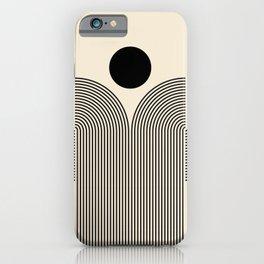 Abstraction_NEW_SUN_RISE_BLACK_LINE_POP_ART_0188B iPhone Case