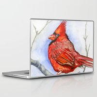cardinal Laptop & iPad Skins featuring Cardinal by Priscilla George