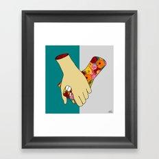 [un]hold Framed Art Print