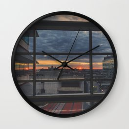 Morning Ember Wall Clock