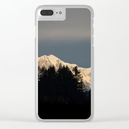 Winter Snow Mountain Clear iPhone Case