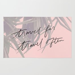 Travel Far Travel Often // Pink Palms Rug