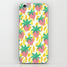 Pink Strawberries iPhone & iPod Skin