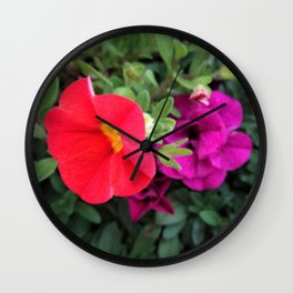 Calibrachoa Flowers 2 Wall Clock