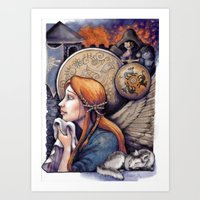 sansa stark Art Prints featuring The Story of Sansa Stark by asdfhd