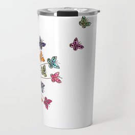 Dandelion and butterflies Travel Mug