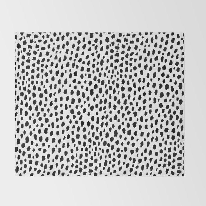 Dalmatian Spots (black/white) Decke