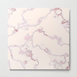 Luxury rose-gold marble Metal Print
