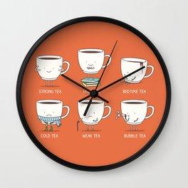 Types of tea Wall Clock