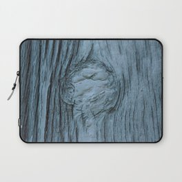 Frosted blue weathered wood Laptop Sleeve