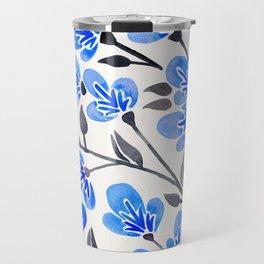 Cherry Blossoms – Blue Palette Travel Mug