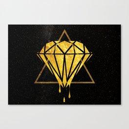 Gold Universe Canvas Print