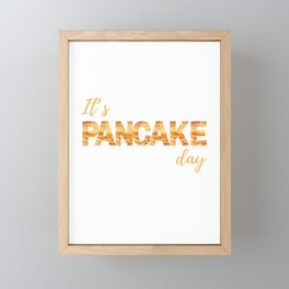 Pancake Day Framed Mini Art Print