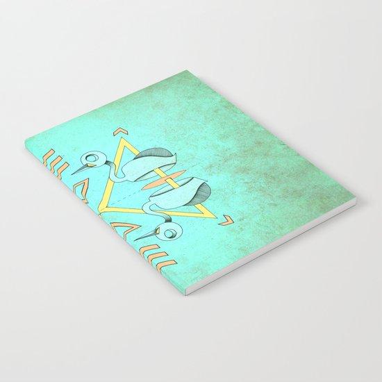 Aztec swan Notebook